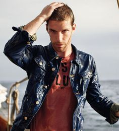 gaastra blue denim jacket drift