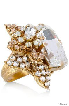 Bijoux Heart La Terre D'Or Swarowski crystal ring