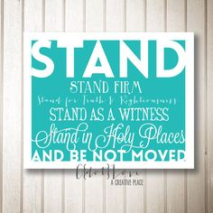 Stand in Holy Places Youth Theme LDS Young Women by CdotLove, $6.00