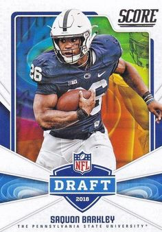 2018 Score Football Saquon Barkley Penn State NFL Draft Rookie Insert  Running Back 2ad1cd350