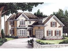 Eplans Colonial House Plan - Lovely Home Adorned - 1806 Square Feet and 3 Bedrooms from Eplans - House Plan Code HWEPL08267