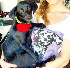 Pop Pet Shirts - Your Pet's Photo Used for Pop Art and Printed on a Womens Tshirt