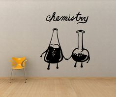This is one of the cutest things I've ever seen. Vinyl Wall Decal Sticker Chemistry by Stickerbrand, $39.95