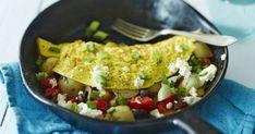 Täytetty munakas on ravitseva ja huippunopea arkiruoka. Täytä munakas perunalla, paprikalla, fetalla ja oliiveilla. Kurkkaa ohje!