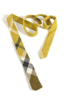 Men's Tie, handmade in vintage fabric.