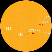 As of October 26,2013 solar activity remains high. NOAA forecasters estimate a 70% chance of M-flares and a 35% chance of X-flares during the next 24 hours. Over the next three days (Oct. 26-28), a series of CMEs created by the recent limb eruptions will deliver glancing blows to Earth's magnetic field, possibly sparking polar geomagnetic storms. This solar disk picture shows the earth facing side with 8 active regions that bear watching. The Next Three Days, Earth's Magnetic Field, Solar Activity, Meteor Shower, Picture Show, Solar Flares, Activities, Storms, Solar