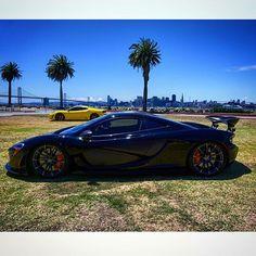#McLaren #P1 #Hybrid  #HyperCar #SuperCar #Ferrari #F430 #Scuderia #NovitecRosso #Scud #BecauseRaceCar @bayareanady #TreasureIsland #photoshoot #sfskyline #baybridge #carsandcoffeesf #CarsandCoffee  by evoherb
