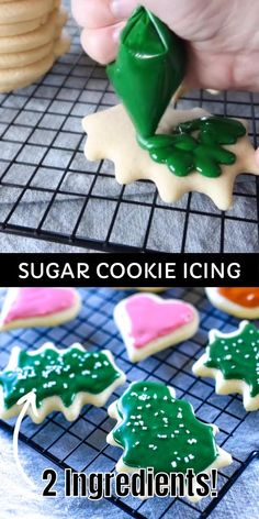 Christmas Sugar Cookies, Christmas Snacks, Christmas Cooking, Holiday Cookies, Holiday Desserts, Frosting For Christmas Cookies, Gingerbread Cookies, Simple Christmas Cookie Recipe, Icing For Shortbread Cookies