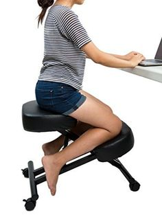 SLEEKFORM Ergonomic Kneeling Chair, Adjustable Stool For Home and Office - Thick Comfortable Cushions -  http://www.wahmmo.com/sleekform-ergonomic-kneeling-chair-adjustable-stool-for-home-and-office-thick-comfortable-cushions/ -  - WAHMMO
