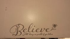 Just the kind of advice I want to find waiting for me on a bathroom wall. #Believe