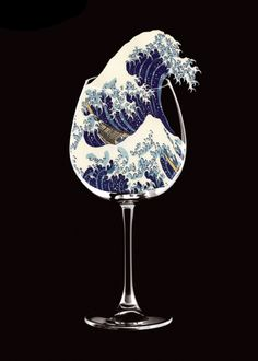 hokusai japan tsunami painting art