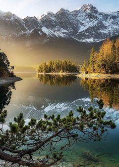 Eibsee Lake Bavarian Spring.