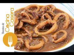 Calamares a la Riojana - Recetas de Cocina Casera - Recetas fáciles y sencillas