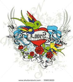 Tattoo Graphic Heart