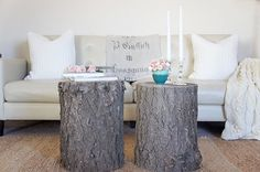 treestump coffee tables