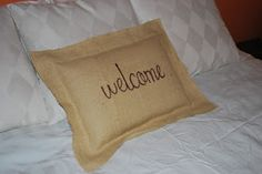 The Ever Changing Life of a Military Wife: Burlap and Sharpie Pillow