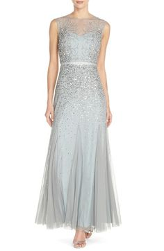 Adrianna Papell Beaded Chiffon Gown available at #Nordstrom