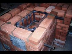 Теплообменник / Simple and inexpensive homemade heat exchanger built into the furnace of brick Stove Heater, Stove Oven, Bbq Firebox, Eco Deco, Heating A Greenhouse, Tyni House, Rocket Mass Heater, Underfloor Heating Systems, Cooking Stove