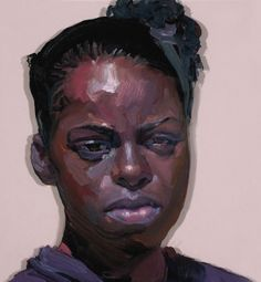 """From the """"Population"""" series by artist Ray Turner (b. 1958) {art female head double-vision african-american black woman face portrait painting #loveart #2good2btrue} Focus !!"""