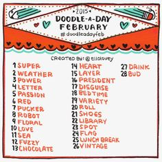 doodle list for feb - Google Search
