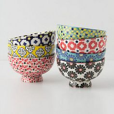 Tiled Dotted Bowl - I often use small bowls with graphic patterns for holding makeup and hair accessories on my dresser. They're so inexpe...