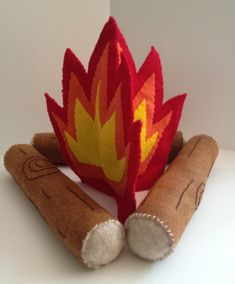 Made to Order Felt Campfire by BellybirdDesigns on Etsy, $40.00