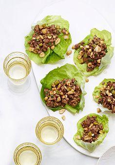 Gingery Beef Lettuce Wraps Recipe