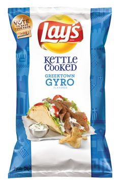 Flavor No. Lay's Kettle Cooked Greektown Gyro Potato Chip Maker, Potato Chip Flavors, Lays Potato Chips, Lays Chips Flavors, Oreo Flavors, Cereal Recipes, Snack Recipes, Chips Brands, Thanksgiving Stuffing