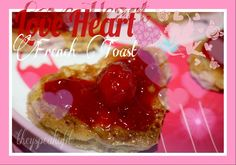 French toast is a classic breakfast that everyone loves. These simple  little love heart french toasts are easy to make. All you will need are  these ingredients and a heartcookie cutter to shape them. Grab a nice flat  pan, a spoon and a spatula.  Collect your ingredients  This recipeserves for two people  Cut out two heart shapes from each slice of bread. I used Blues Bread from  Dave's killer bread brand. Our family is addicted to this bread. The little  one just loves this bread with…