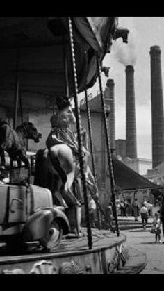 Atracciones Paralelo, Barcelona fotogragia blanco y negro