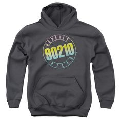 90210/COLOR BLEND LOGO-YOUTH PULL-OVER HOODIE - CHARCOAL -