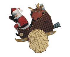 Flying Santa Papercraft