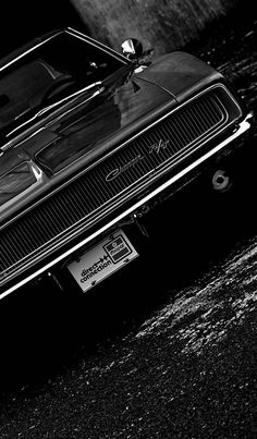 1968 Dodge Charger Morris Classic's mirror-polished stainless steel engine size emblems would shine on the hood of this!