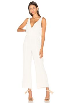 Privacy Please Gansel Jumpsuit in Ivory
