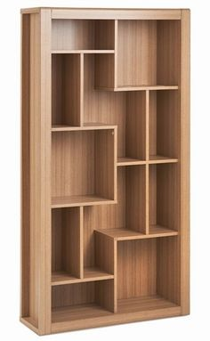 Rio Home Office Bookcase Diy Furniture Projects, Home Office Furniture, Furniture Design, Bookshelf Design, Wall Shelves Design, Unique Wall Shelves, Interior Design Living Room, Living Room Decor, Room Partition Designs