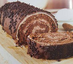 Receptek, és hasznos cikkek oldala: Csokoládés tekercs marcipánnal (Mutatós, finom süti!)
