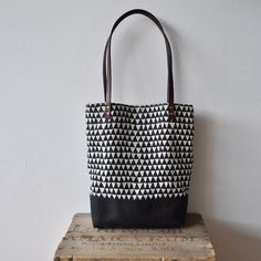 SMALL TOTE BAG  triangle von bookhouathome auf Etsy, $68,00