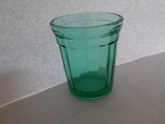Akro Agate Green Teal 2 Inch High Childs Toy Tumbler by tjmccarty, $10.00