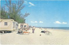 Vintage Florida Postcard Fort Ft Myers Beach by savannahsmiles4u, $2.25