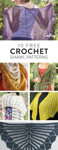 We've rounded up our 10 favorite and free crochet shawl patterns . Make yourself or a friend a beautiful new accessory and have fun doing it!