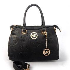 Fashion Michael Kors Grayson Logo-Print Medium Black Satchels Online!