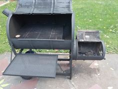 Homemade Offset Smoker Grill Finished Result.  Minus thermometers which are in the mail.