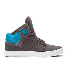 SUPRA ATOM | GREY / TURQUOISE-WHITE | Official SUPRA Footwear Site