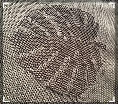 'Монстера' узор для топа // ♛ Lina Neva Knitting Machine Patterns, Easy Knitting Patterns, Knitting Charts, Knitting Stitches, Knitting Designs, Stitch Patterns, Intarsia Knitting, Lace Knitting, Knit Crochet