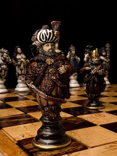 Chess world by Leonid Golovko - Beauty will save Chess Piece Tattoo, Chess Strategies, Chess Set Unique, Art Through The Ages, Tribal Women, Chess Pieces, Board Games, Chess Sets, Antiques
