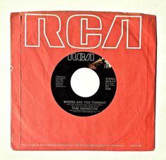 Eric Carmen-Hungry Eyes / Tom Johnston-Where Are You Tonight 7' Single 45 RPM Vinyl Record, RCA,5315-7-R, Pop, Rock, 1987, Original Pressing