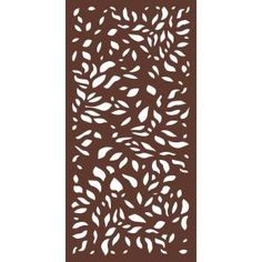 Modinex 6 ft x 3 ft Espresso Brown Modinex Decorative Composite Fence Panel featured in the Stonewall - The Home Depot Outdoor Rooms, Outdoor Living, Outdoor Ideas, Decorative Fence Panels, Privacy Fence Panels, Garden Privacy, Outdoor Screens, Outdoor Privacy, Aluminum Fence
