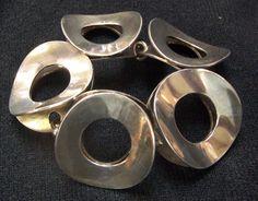 Tone Vigeland Norway Signed Sterling Silver Bracelet Modernist Mid Century 925s | eBay