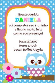 Convite digital personalizado Corujas 004