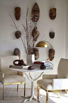 Ibiza gemixt met klassiek African Interior Design, Shabby Chic Stil, Ethnic Decor, Ethnic Chic, African Home Decor, Piece A Vivre, Decoration Design, Design Art, Home And Deco